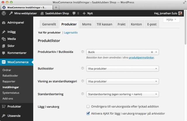 WooCommerce + WordPress